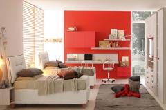 camera ragazzi arredamenti sgrigna giove terni viterbo colombini casa  rosso lineare