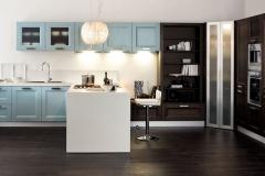 cucine moderne arredamenti sgrigna giove terni viterbo arex gioia frassino laccato azzurro e finitura moro