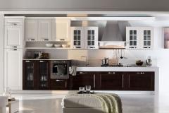 cucine moderne arredamenti sgrigna giove terni viterbo arex gioia frassino laccato bianco e finitura moro