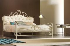 letti in ferro battuto arredamenti sgrigna giove terni viterbo casotto letti e complementi norma ant bianco oro pannello capitonne